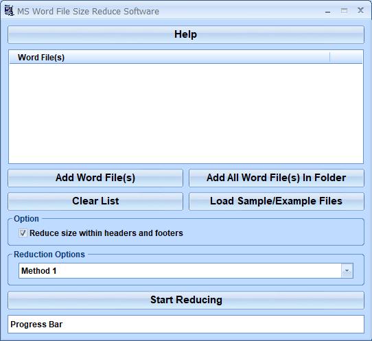 MS Word File Size Reduce Software Windows 10 screenshot - Windows ...