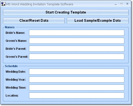 Download MS Word Wedding Invitation Template Software Free